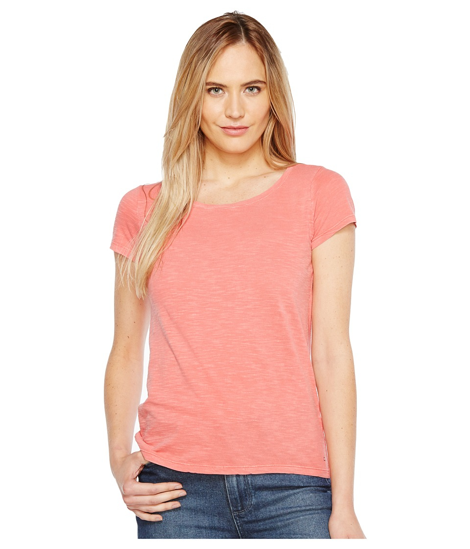 Calvin Klein Jeans - Essential Scoop Neck T-Shirt (Fire Coral) Women's Clothing