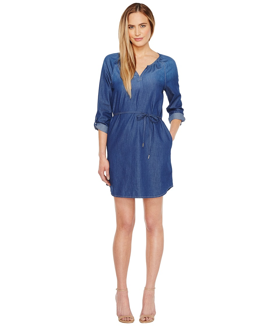 Calvin Klein Jeans - Mid Modern Boho Denim Dress (Mackenzie Mid Wash) Women's Dress