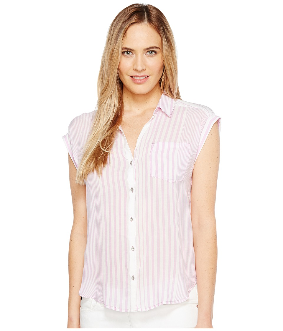 Calvin Klein Jeans - Whisper Weight Pop Over Blouse (Electric Orchid) Women's Blouse