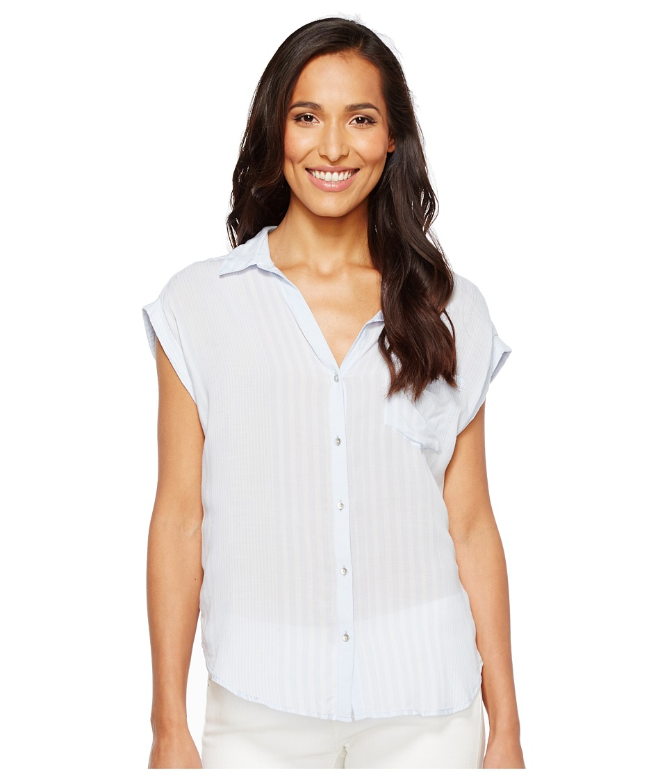 Calvin Klein Jeans - Whisper Weight Pop Over Blouse (Heather) Women's Blouse