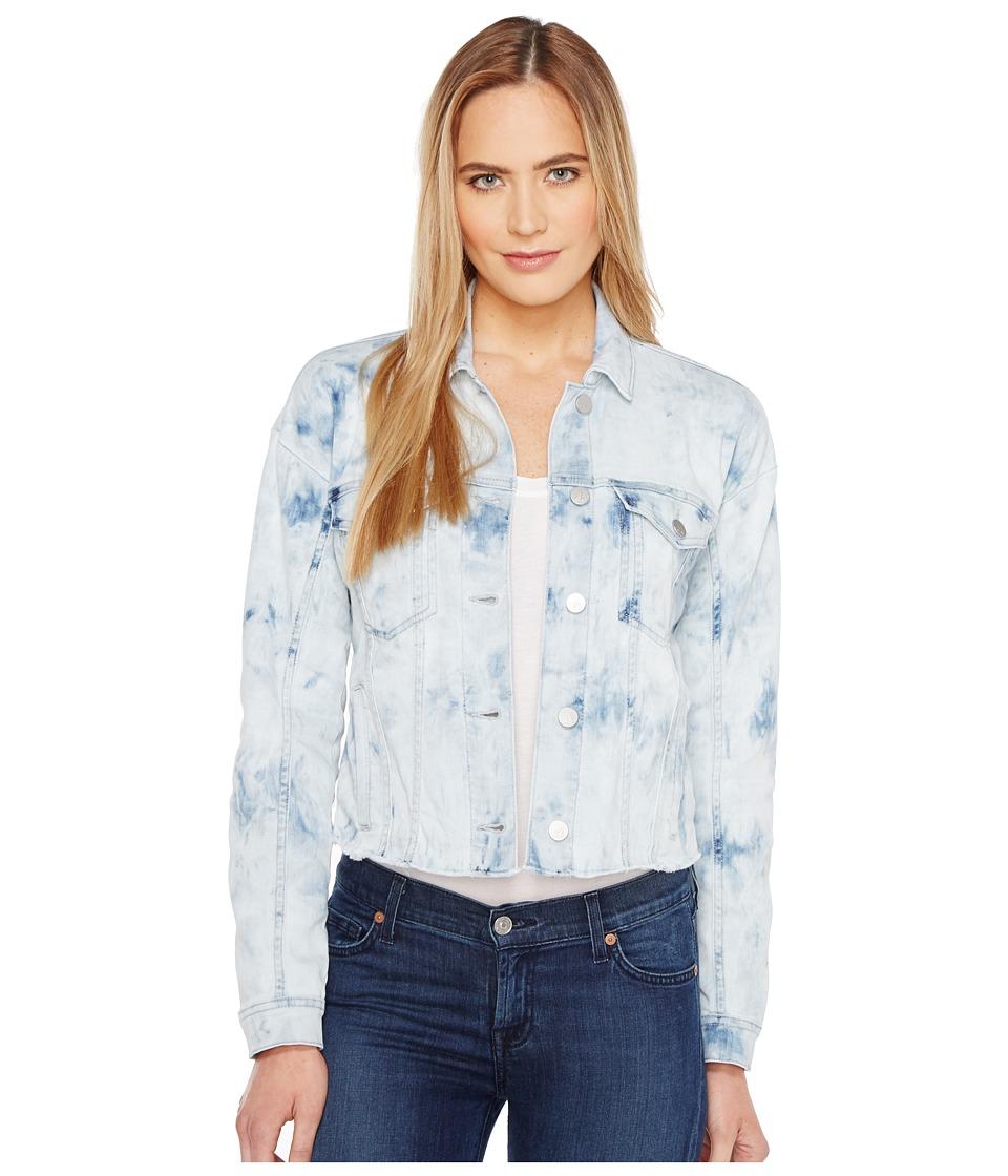 Calvin Klein Jeans Cropped Trucker Jacket (Marble Wash Destruct) Women