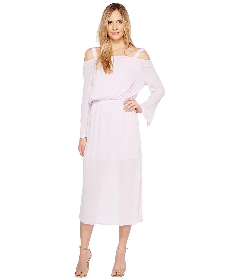 Calvin Klein Jeans Off the Shoulder Midi Dress (Opal Pink) Women