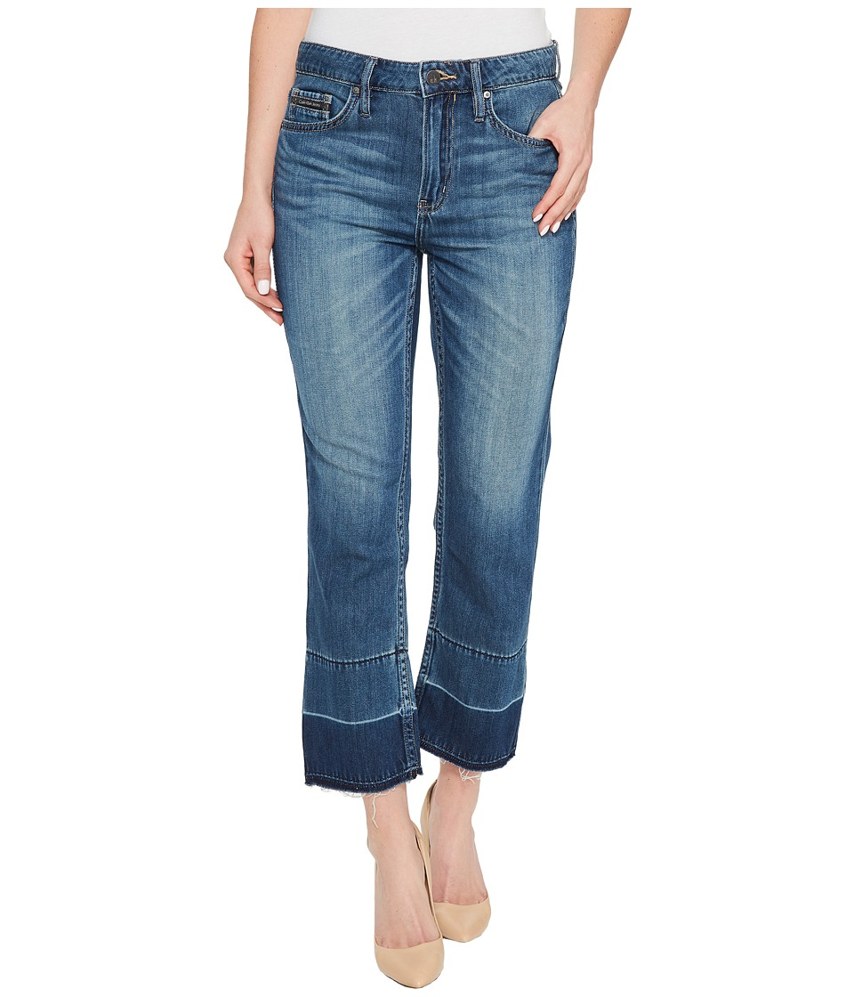 Calvin Klein Jeans - Whisper Weight Boyfriend Jeans in Deep Sea Wash (Deep Sea) Women's Shorts