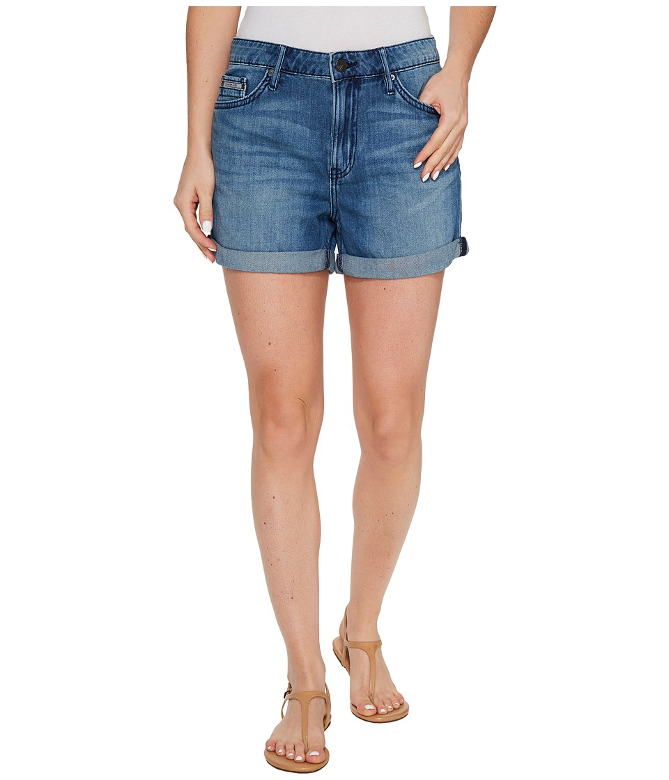 Calvin Klein Jeans - Whisper Weight Boyfriend Shorts in Blue Lagoon (Blue Lagoon) Women's Shorts