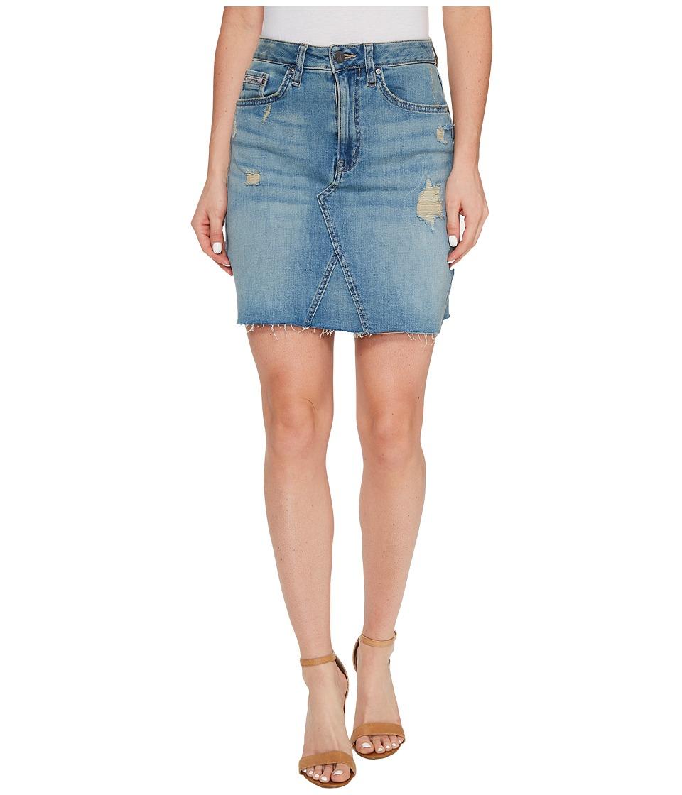 Calvin Klein Jeans A-Line Denim Skirt (Blue Ridge Patch) Women