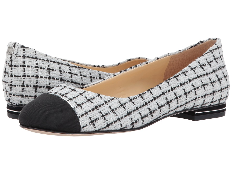 Ivanka Trump - Jami 2 (White Multi Fabric/Grosgrain Metallic Upper) Women's Flat Shoes
