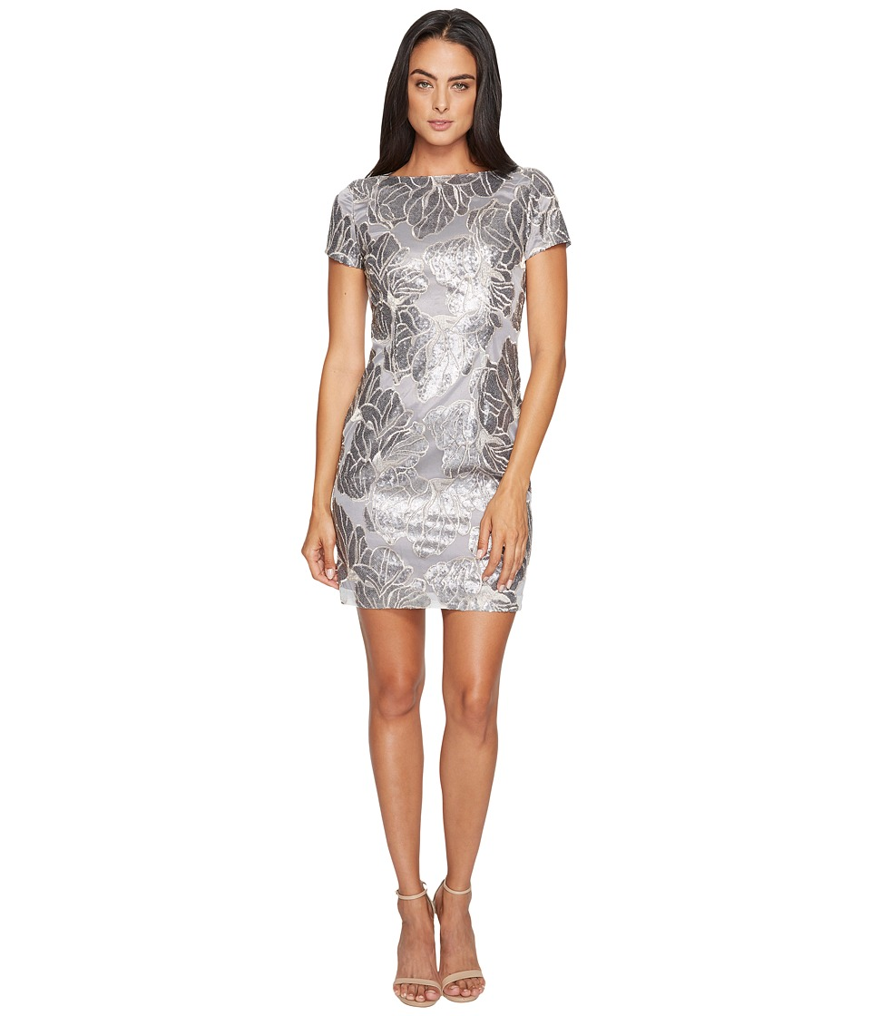 Tahari by ASL - Sequin T-Shirt Dress (Dove Grey (Prior Season)) Women's Dress