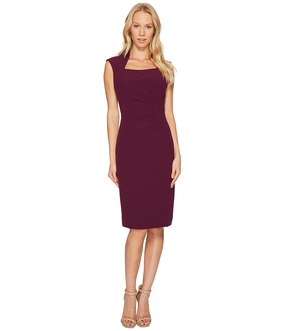 Tahari by ASL Square Neck Sheath Dress