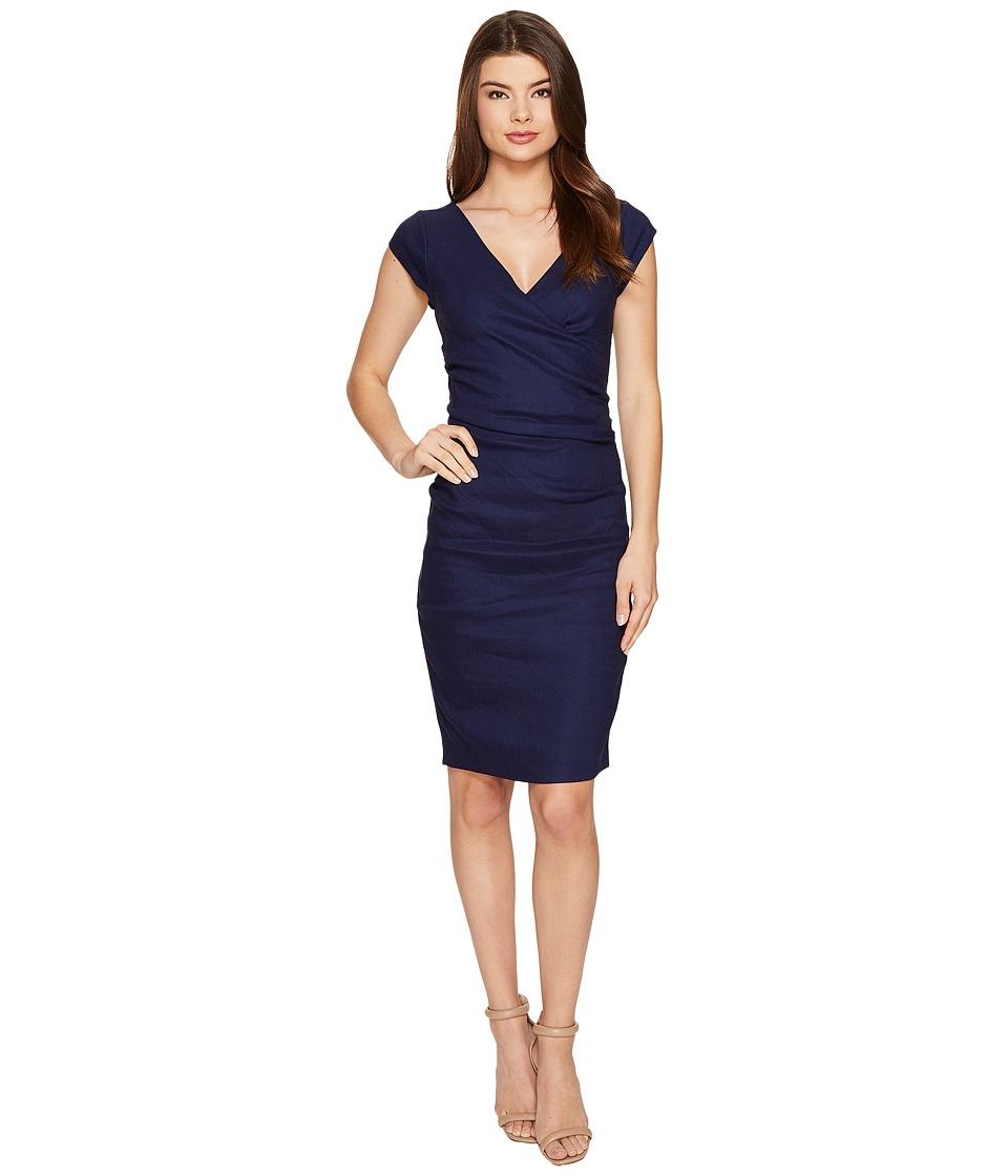 Nicole Miller - Linen Beckett Dress (Dark Denim) Women's Dress