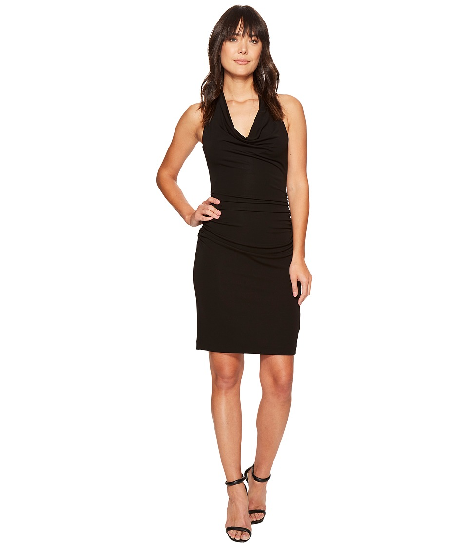 Nicole Miller - Samara Cowl Neck Halter Dress (Black) Women's Dress