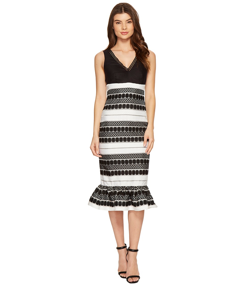 Nicole Miller - Loren Party Dress (Black/White) Women's Dress