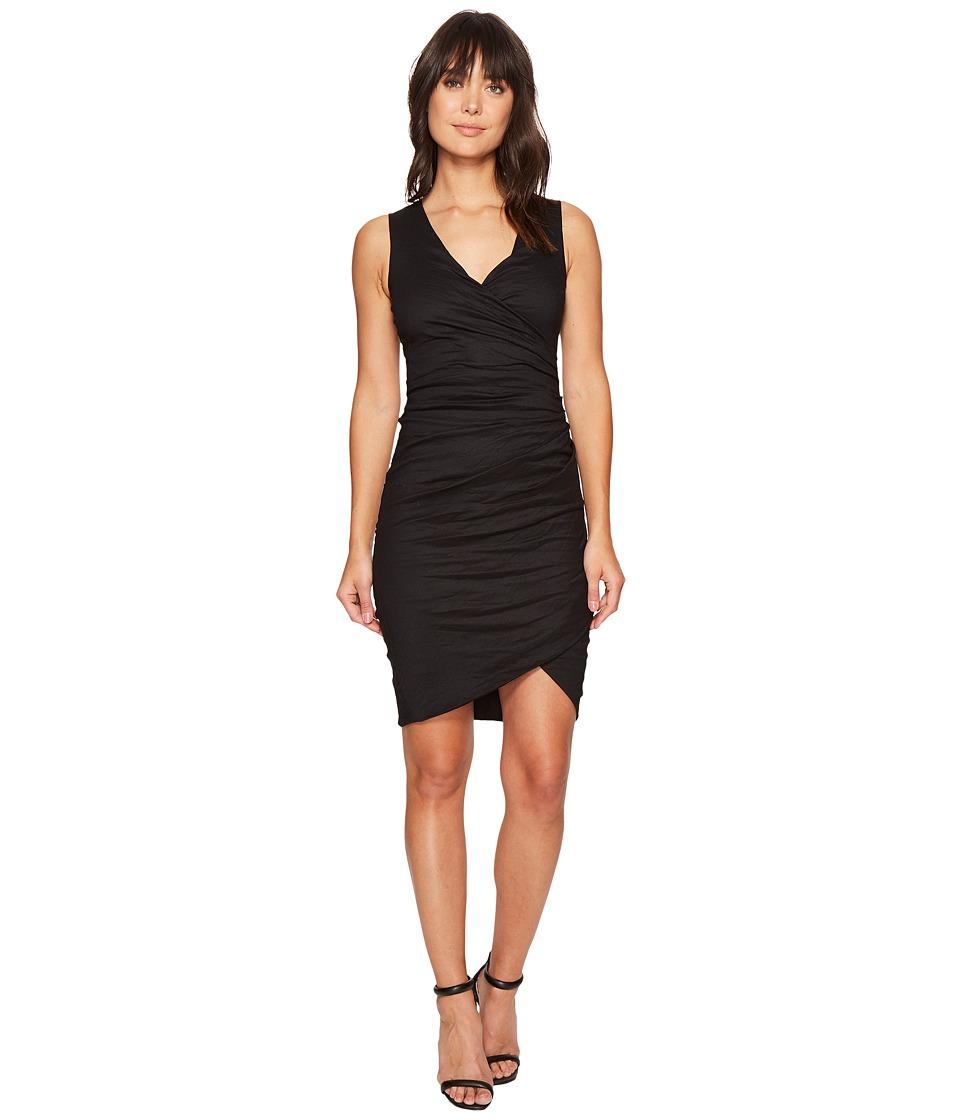 Nicole Miller - Stefanie Cotton Metal Dress (Black) Women's Dress