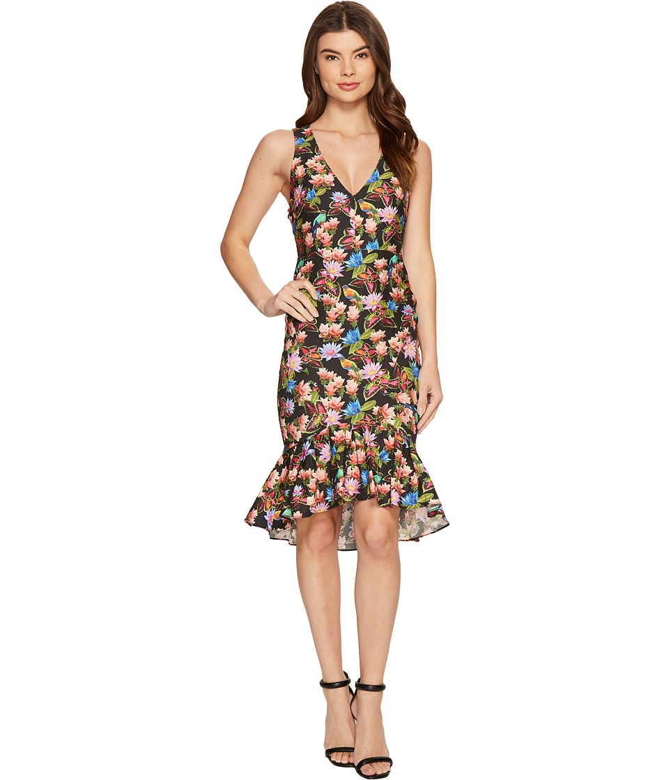 Nicole Miller - Whimsical Jungle Lamanca Dress (Black Multi) Women's Dress