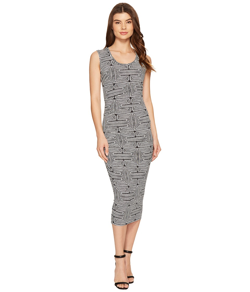 Nicole Miller - Kyle Maze Jersey Dress (Black/White) Women's Dress