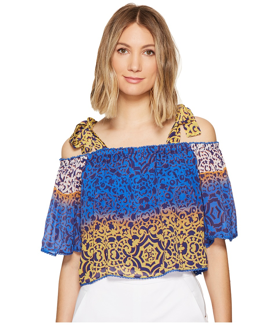 Nicole Miller - La Plage by Nicole Miller Cleo Bow Tie Beach Top (Multi) Women's Clothing