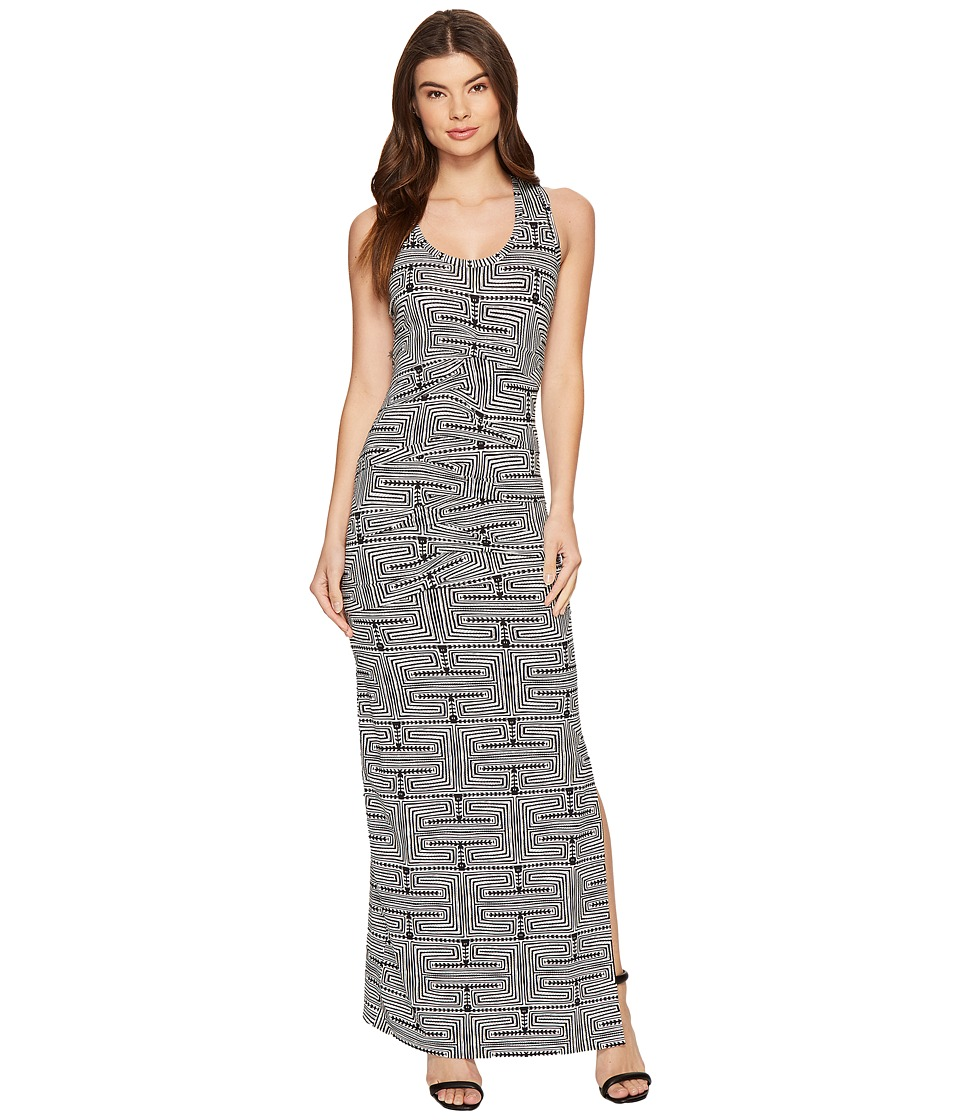 Nicole Miller - Vanessa Maze Printed Maxi (Black/White) Women's Dress