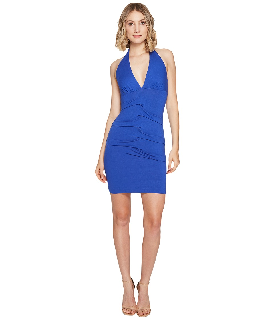 Nicole Miller - Tidal Pleat Halter Dress (Egyptian Blue) Women's Dress