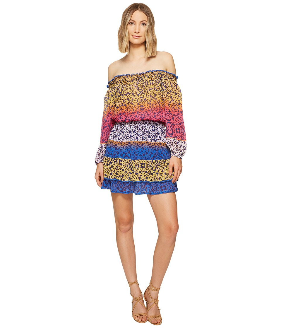 Nicole Miller - La Plage by Nicole Miller Cleo Smock Waist Dress (Multi) Women's Dress