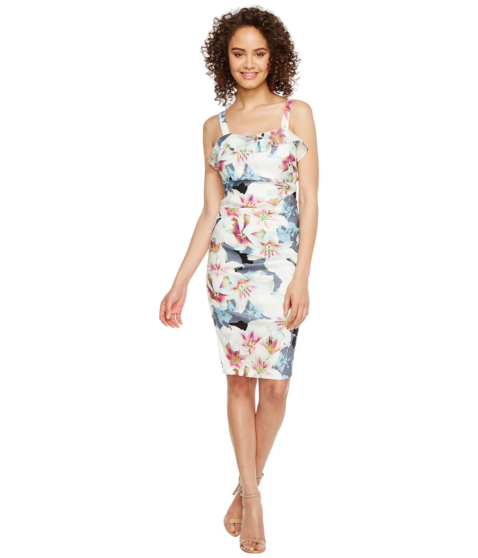 Nicole Miller - Liza Summer Linen Cocktail Dress (Chambray Multi) Women's Dress