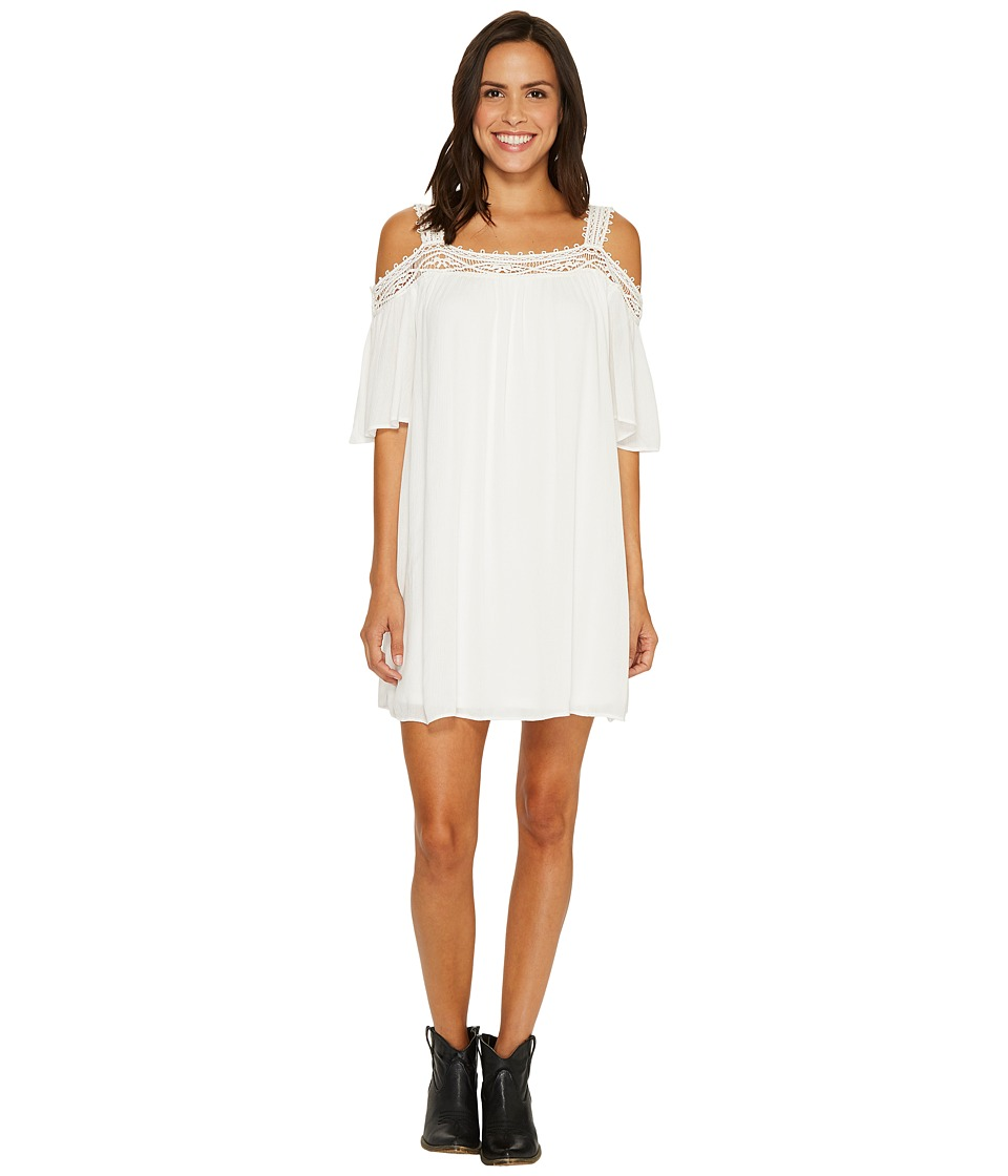 Wrangler - Cold Shoulder Dress (Ivory) Women's Dress