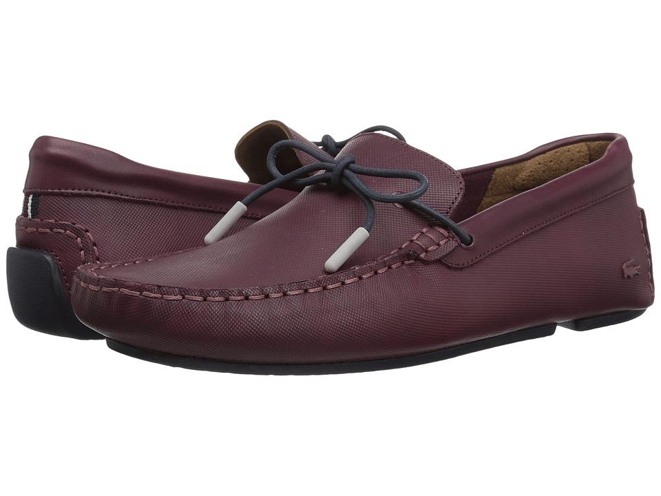 Lacoste - Piloter Corde 317 1 (Burgundy) Men's Shoes