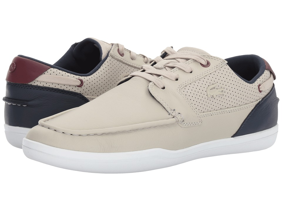 Lacoste - Deck-Minimal 317 1 (Light Grey/Navy) Men's Shoes