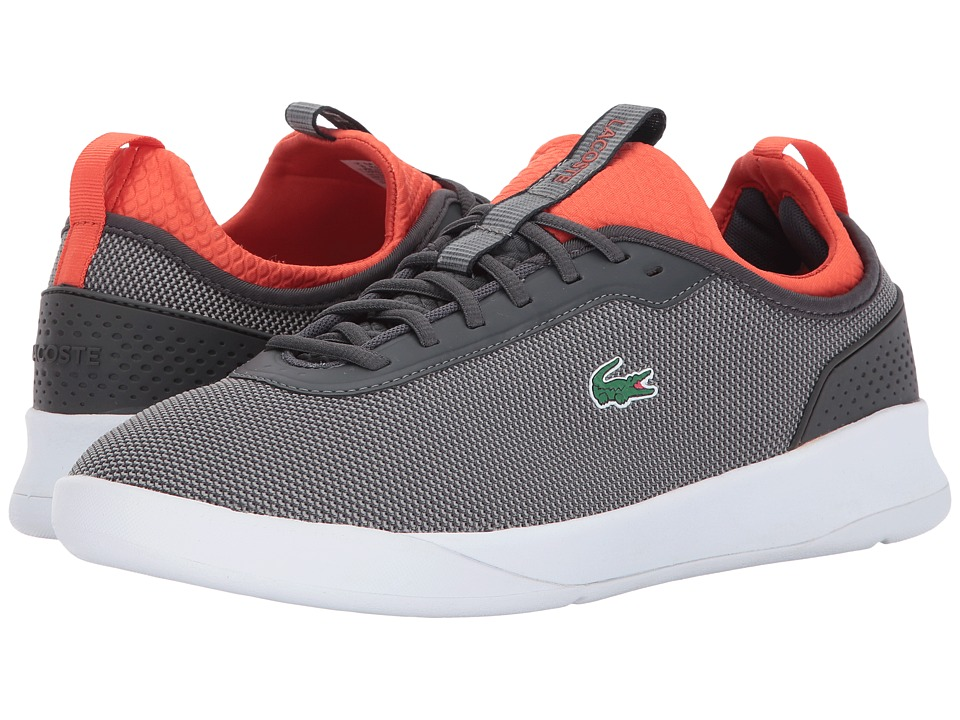 Lacoste - LT Spirit 2.0 317 1 (Dark Grey/Red) Men's Shoes