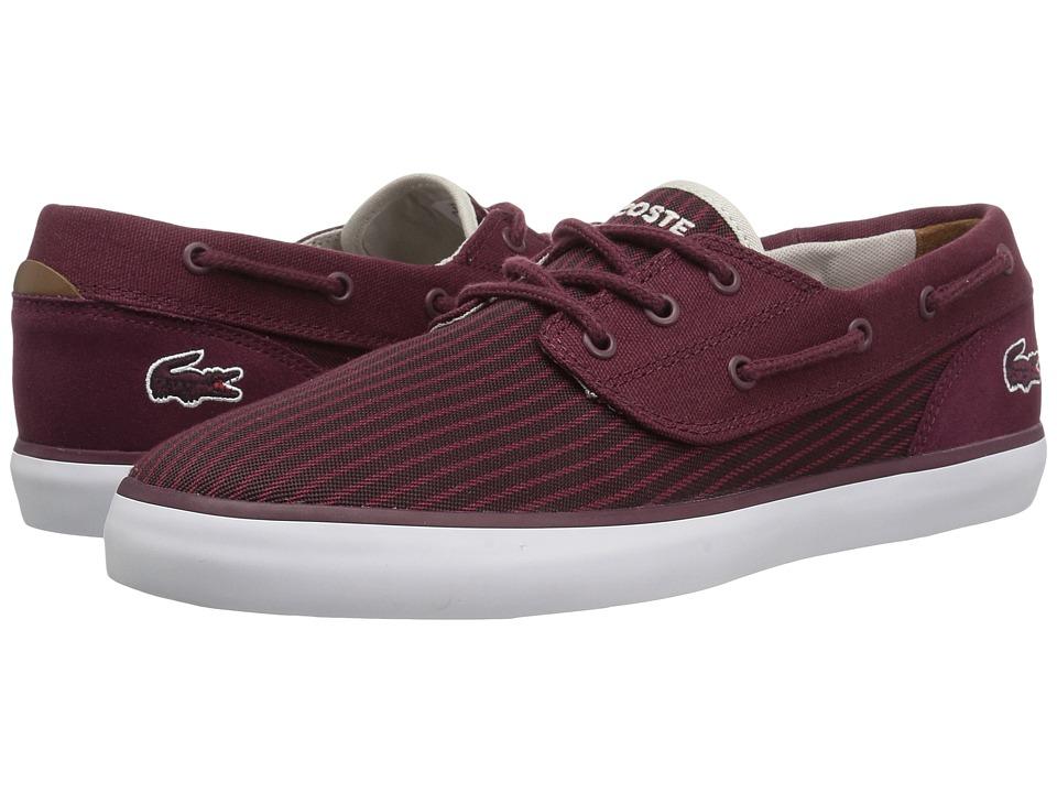 Lacoste - Jouer Deck 317 1 (Burgundy) Men's Shoes