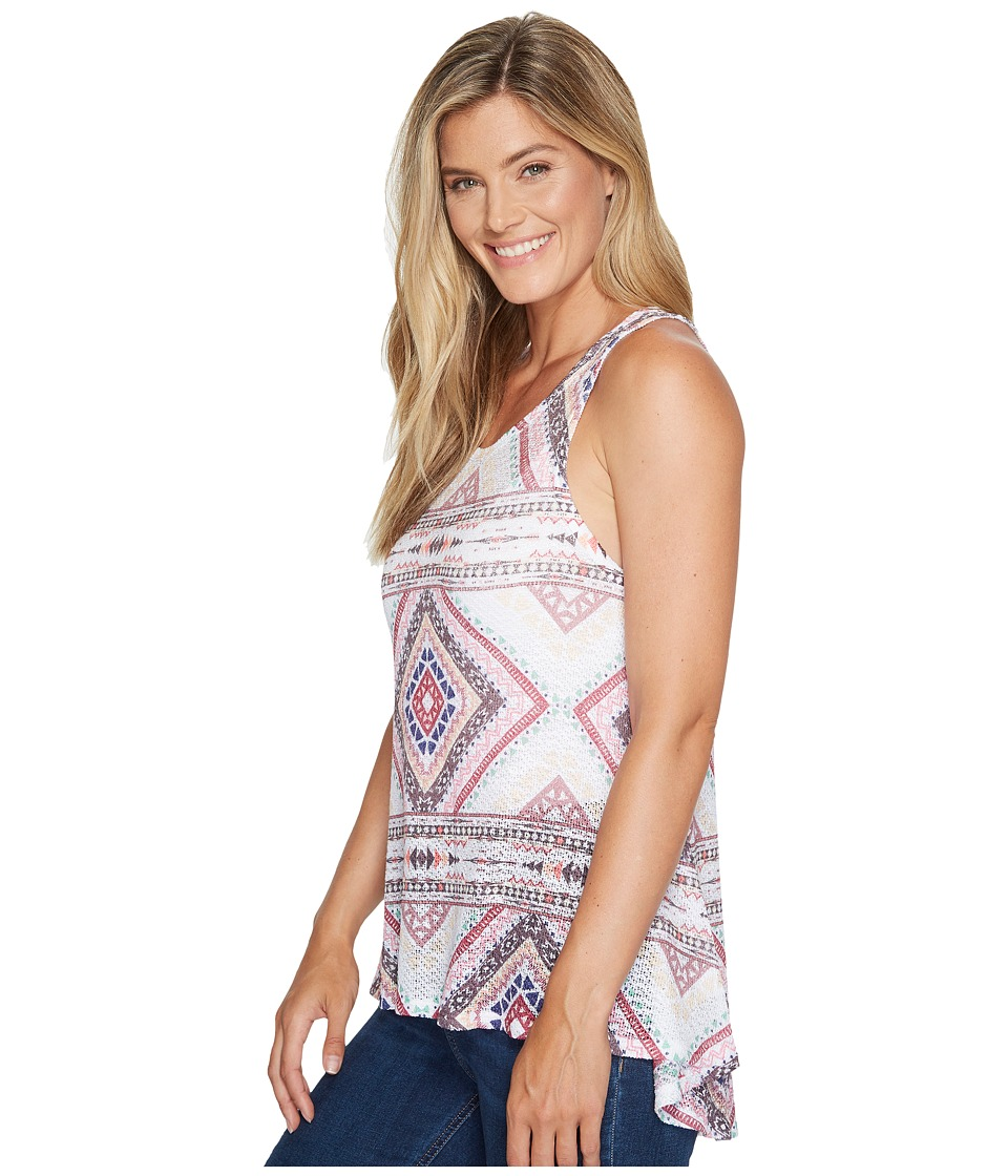 Wrangler - Sleeveless Screenprint (Cream/Coral/Brown) Women's Sleeveless