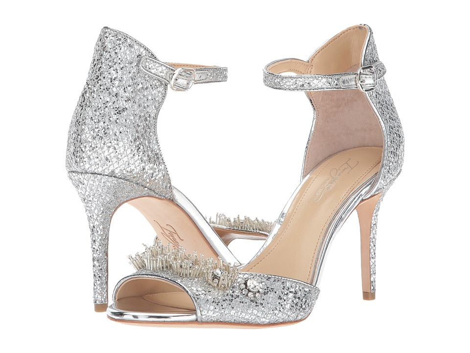 Imagine Vince Camuto Prisca (Platinum Glitter Mesh) High Heels