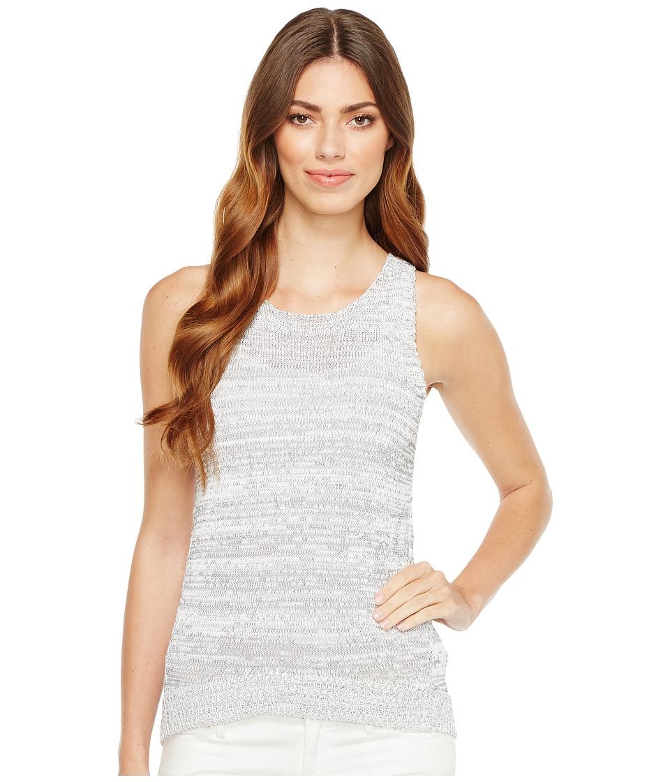 Calvin Klein Jeans - Tank Top w/ High-Low Hem (White Wash) Women's Sleeveless