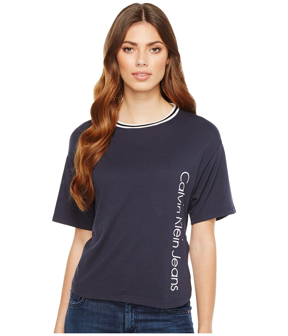 Calvin Klein Jeans Sport Stripe Boy T-Shirt (Parisian Night) Women