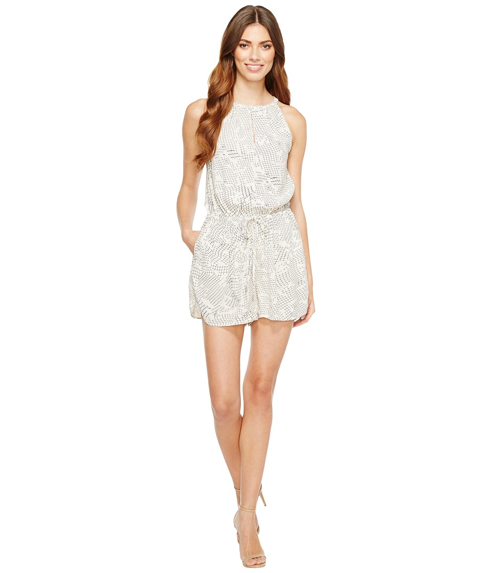 Calvin Klein Jeans - Printed High Neck Bare Romper (Dew) Women's Jumpsuit & Rompers One Piece