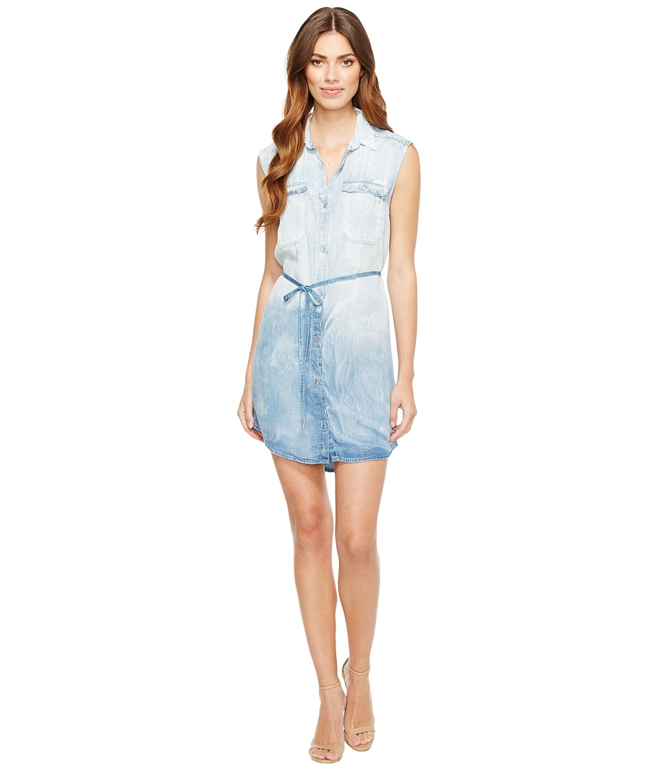 Calvin Klein Jeans - Sleeveless Denim Utility Dress (Jackson Mid Wash) Women's Dress
