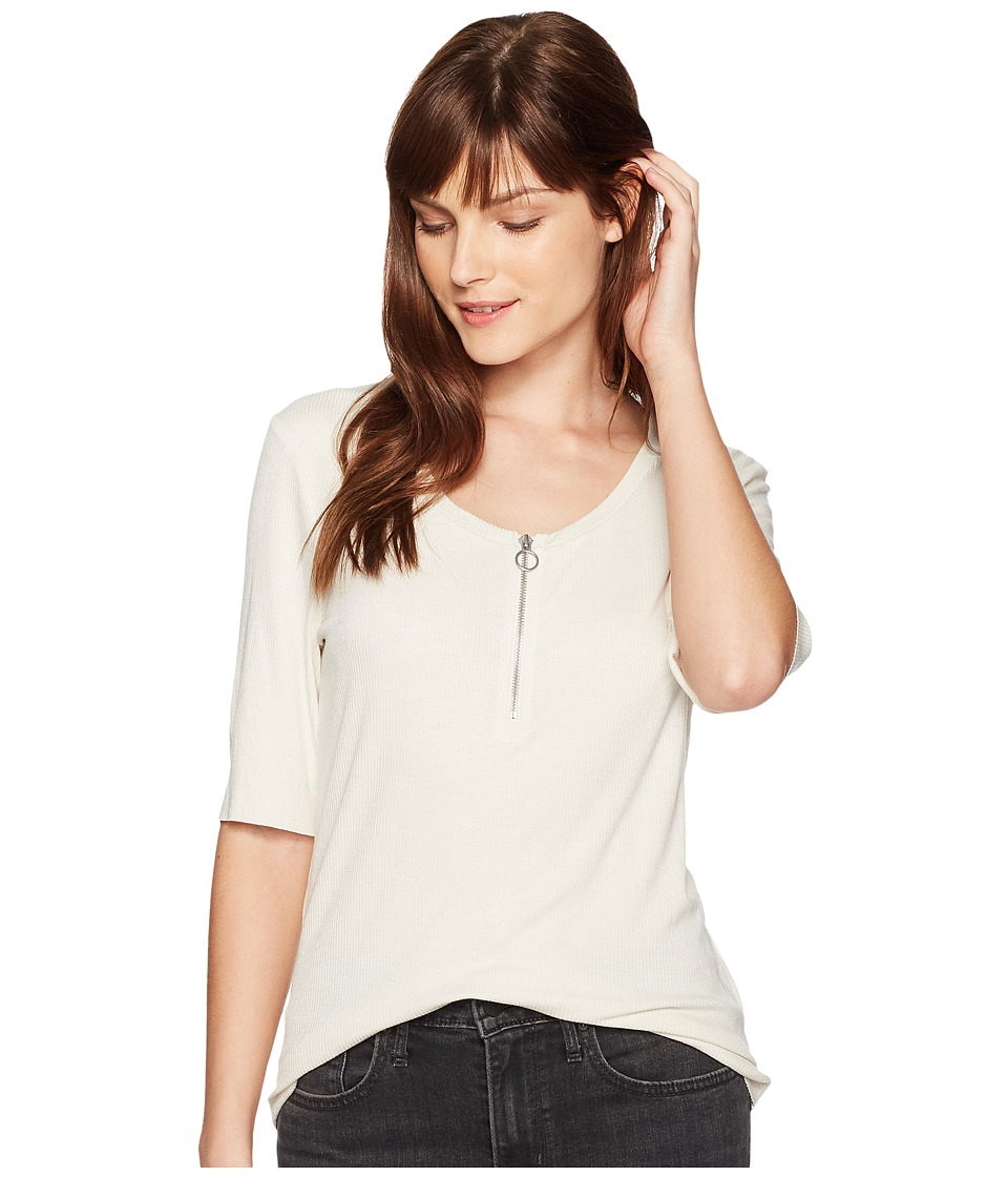 Calvin Klein Jeans - Rib Top w/ O-Ring Detail (Birch) Women's Clothing