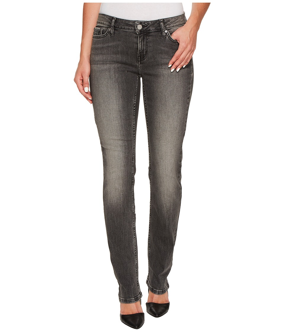 Calvin Klein Jeans - Straight Leg Jeans in Black Top Wash (Black Top) Women's Jeans