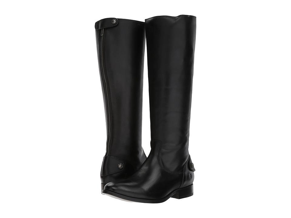 Frye - Melissa Button Back Zip (Black) Women's Zip Boots