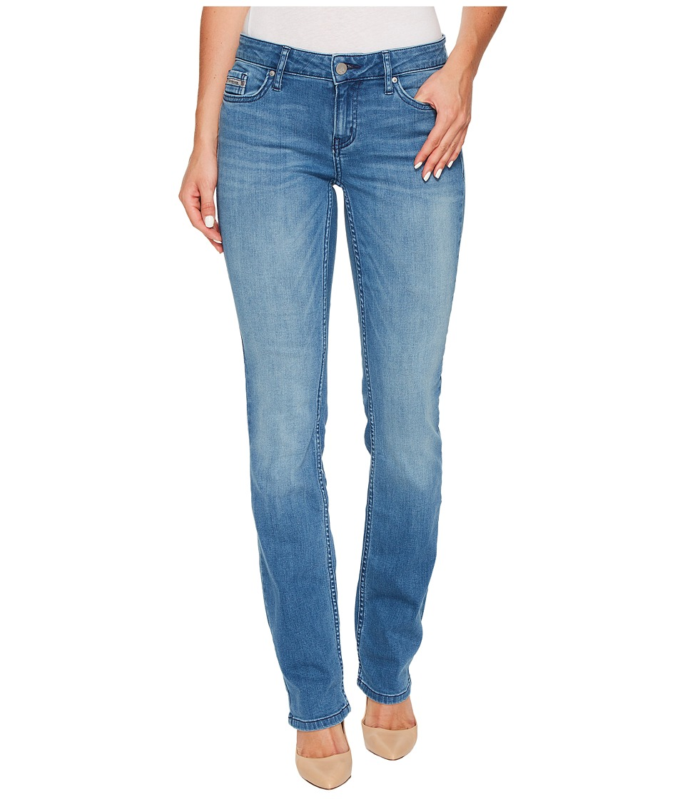 Calvin Klein Jeans - Straight Leg Jeans in Sunlit Blue Wash (Sunlit Blue) Women's Jeans