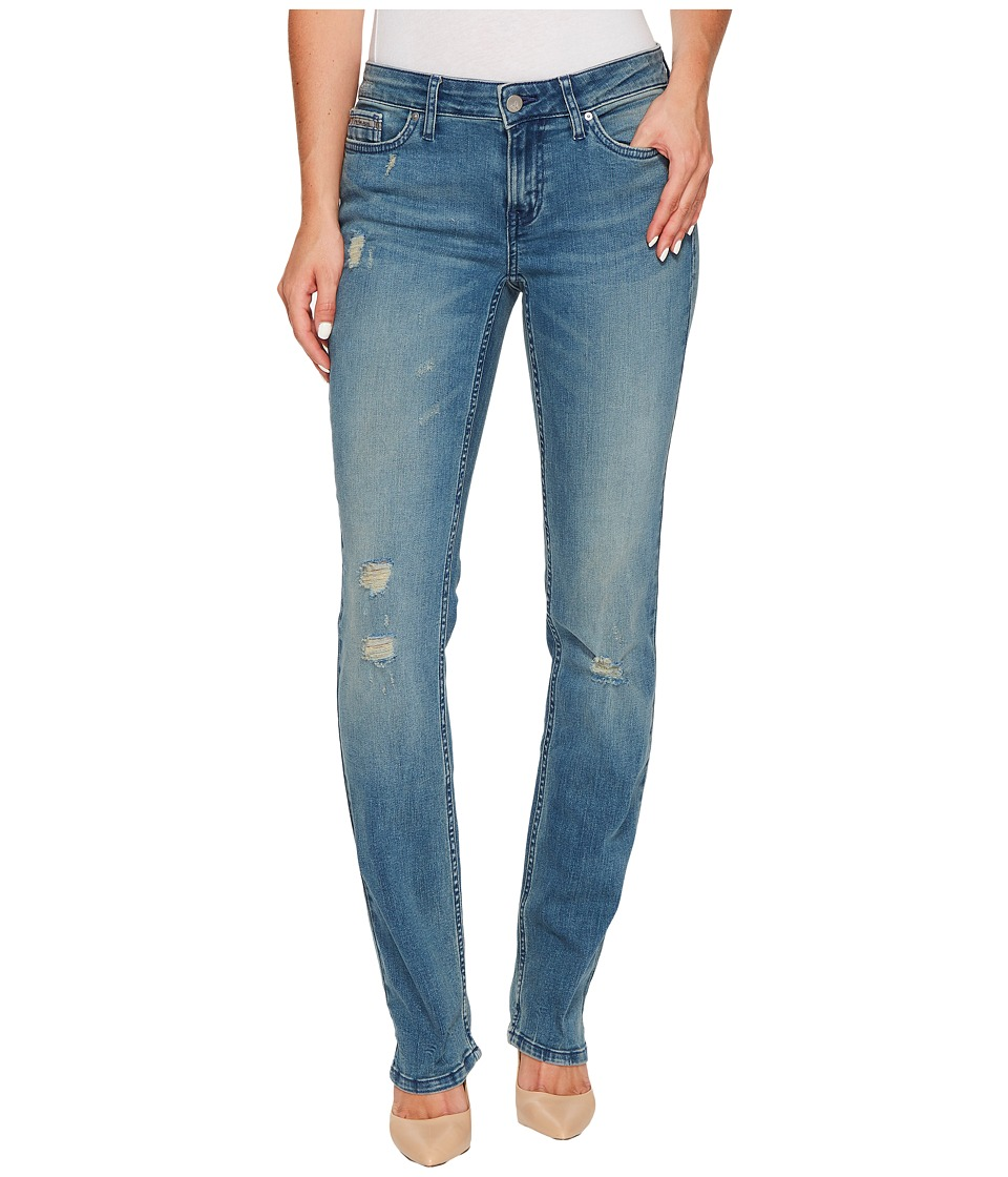 Calvin Klein Jeans - Straight Leg Jeans in Sandstorm Wash (Sandstorm) Women's Jeans