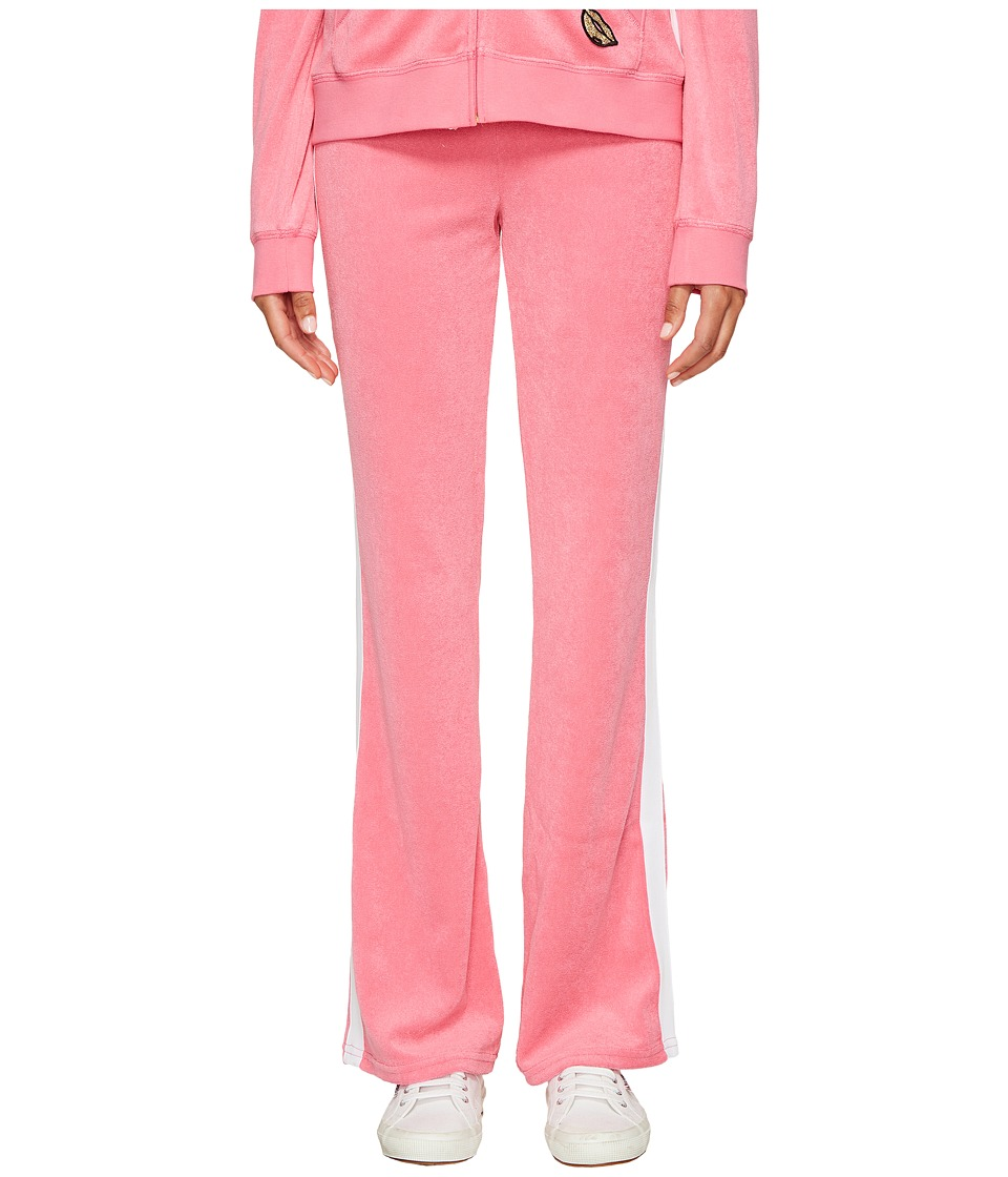Juicy Couture - Venice Beach Patches Microterry Del Rey Pants (Precocious Pink) Women's Casual Pants