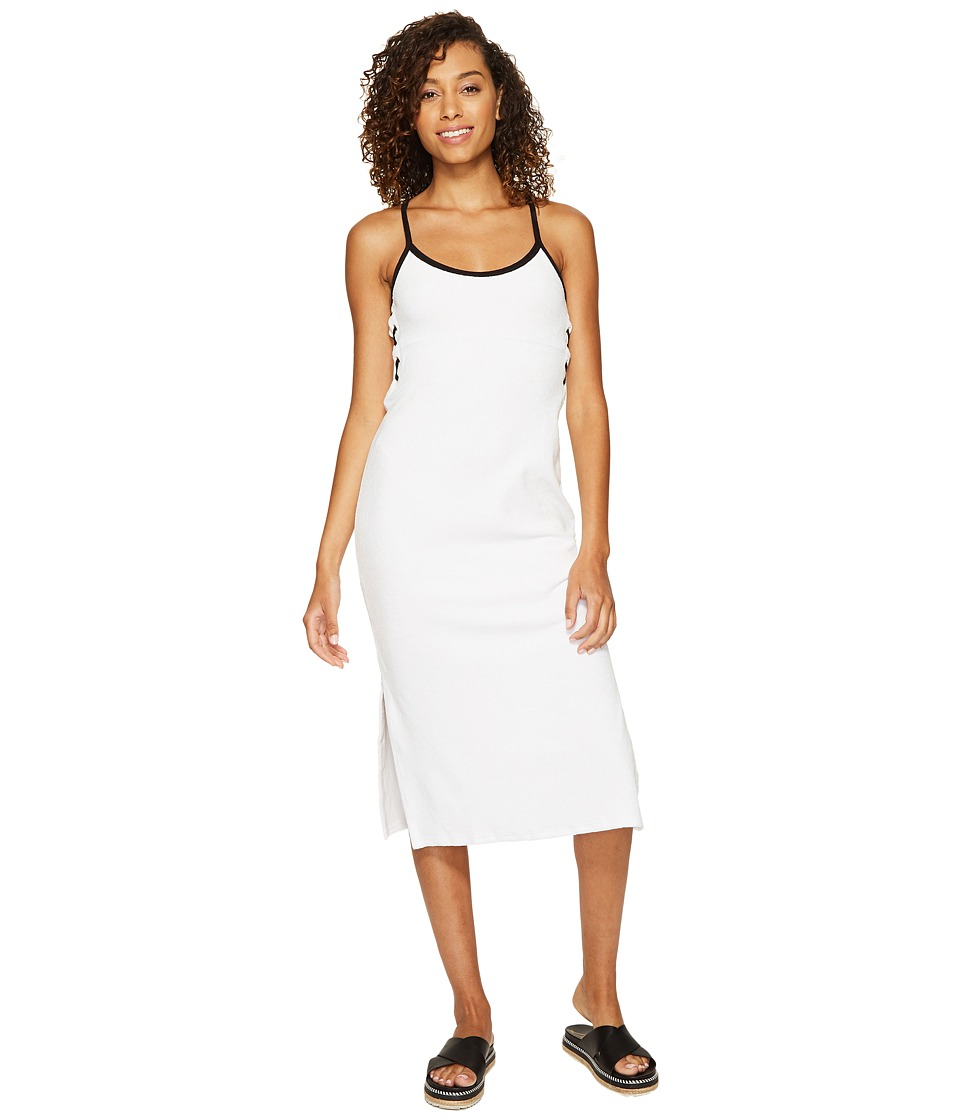 Juicy Couture - Venice Beach Microterry Laced Slip Dress (White) Women's Dress