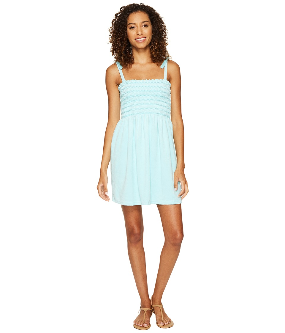 Juicy Couture - Venice Beach Microterry Ruched Ties Dress (Island Paradise) Women's Dress