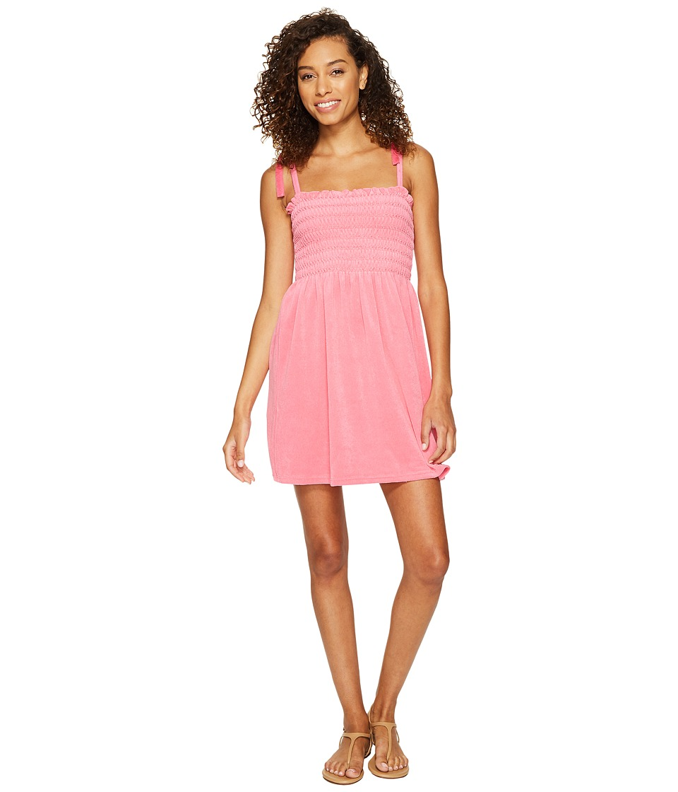 Juicy Couture - Venice Beach Microterry Ruched Ties Dress (Precocious Pink) Women's Dress