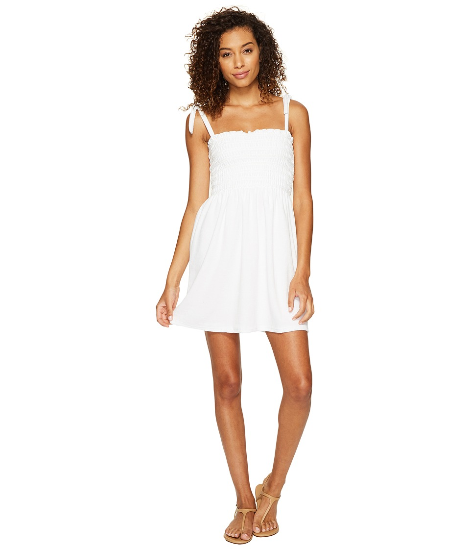 Juicy Couture - Venice Beach Microterry Ruched Ties Dress (White) Women's Dress