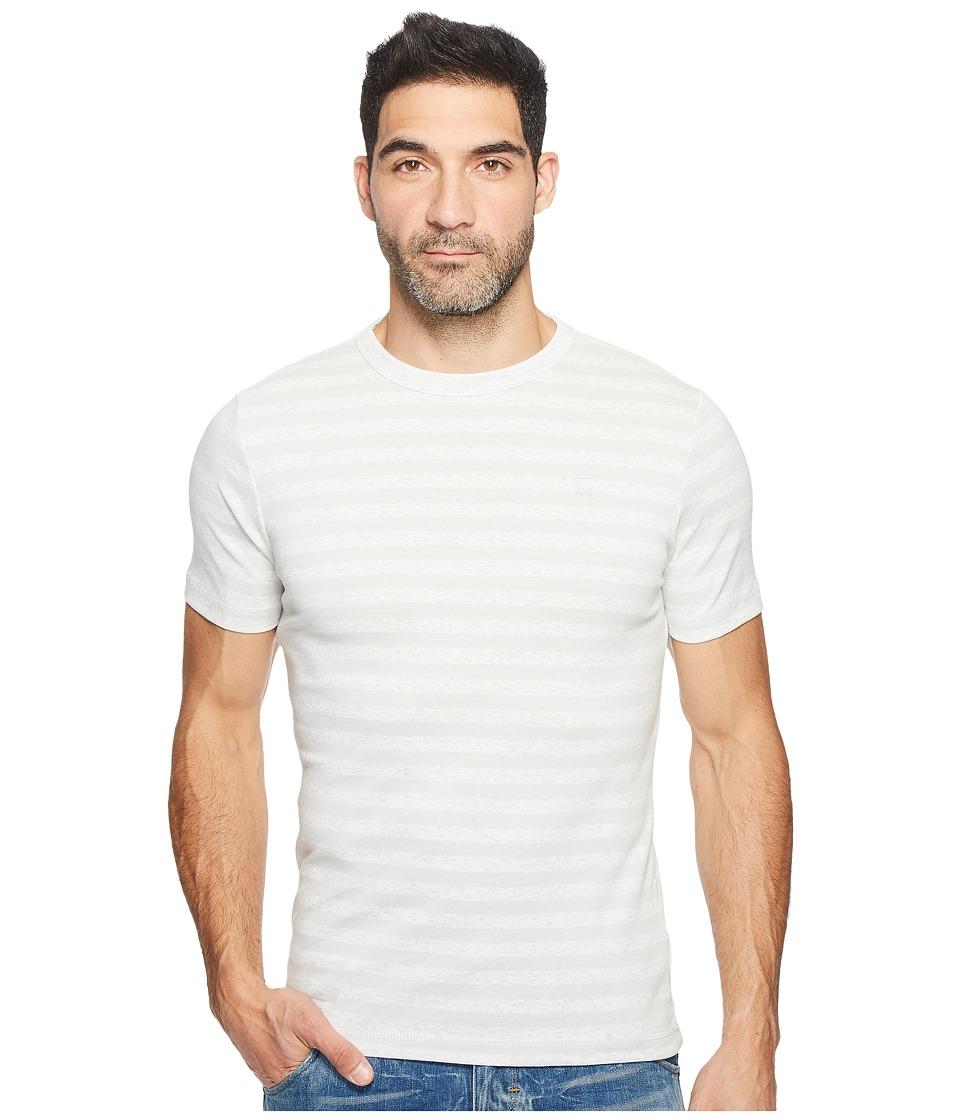 G-Star - Kantano Slim R T Short Sleeve Cool Rib Small Premere Stripe (Milk Heather/Cool Grey Stripe) Men's Short Sleeve Pullover