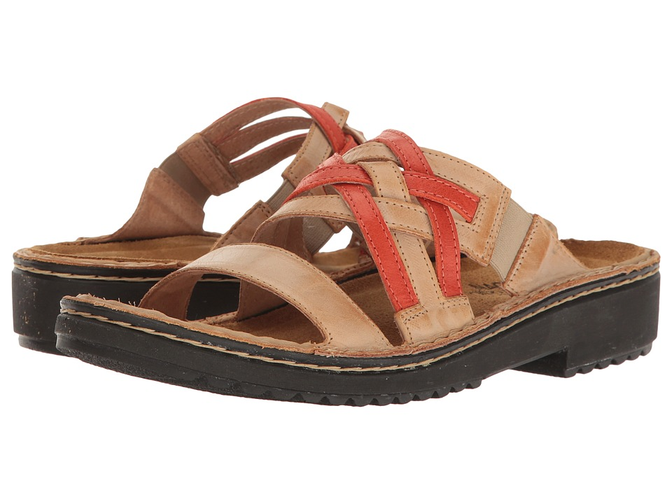 Naot Footwear - Ingrid (Biscuit Leather/Tangarine Leather) Women's Sandals
