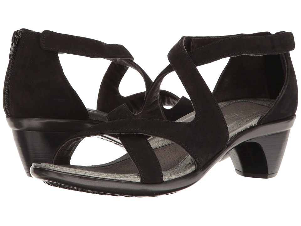 Naot Footwear - Myth (Black Nubuck) Women's Sandals