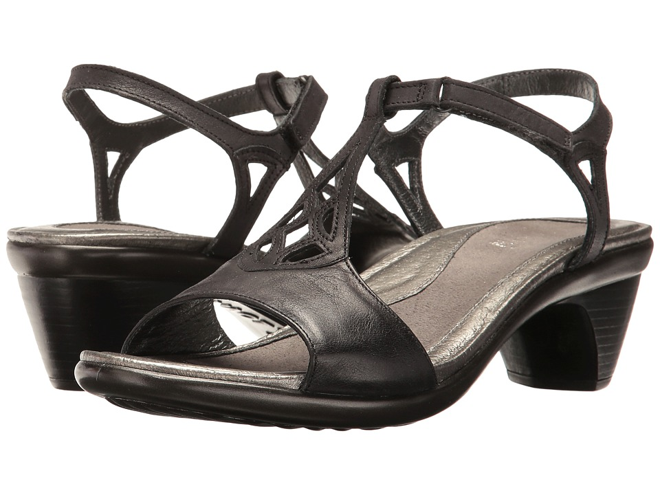 Naot Footwear - Revere (Brushed Black Leather) Women's Shoes