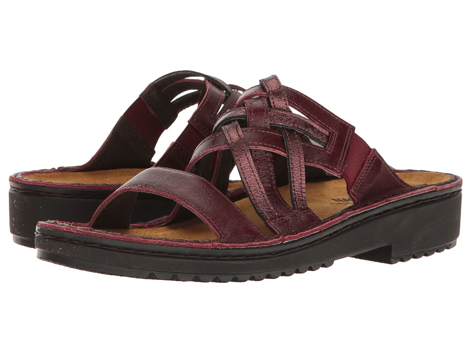 Naot Footwear - Ingrid (Merlot Leather/Sicily Bronze Leather) Women's Sandals