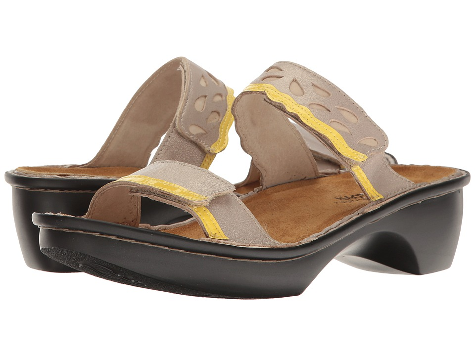 Naot Footwear - Cologne (Stardust Leather/Lemon Patent) Women's Shoes